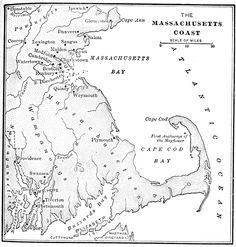 Founder Of Massachusetts Bay Colony   Massachusetts Bay Colony: Map of Massachusetts Coast