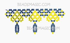 Free pattern for necklace Queen of Spades | Beads Magic