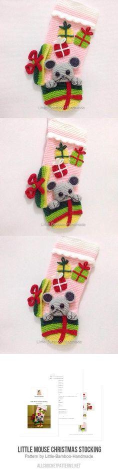Little Mouse Christmas Stocking crochet pattern