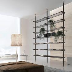 Rimadesio - Zenit sistema componibile per cabina armadio in vetro e alluminio, guardaroba, zona notte, arredamento casa - living_area - Rimadesio