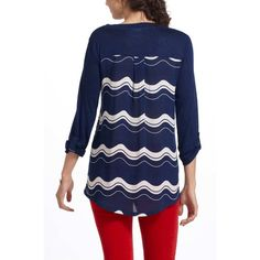 """[Anthro] Whimsy Motifs Top Get free shipping! Offer $6 off listed price for automatic acceptance!  Color and prints are always eye-catching, but when mixed together, they're even more striking. The conversational pattern of Porridge's A-line top is perfect for pairing with bright denim or a subtly striped skirt. Gently used. One teeny hole above the pocket. 20"""" across bust, 24"""" long.   32412A Anthropologie Tops Tees - Long Sleeve"""