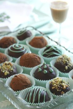 Bailey's Irish Cream Chocolate Truffles - Saving Room for Dessert