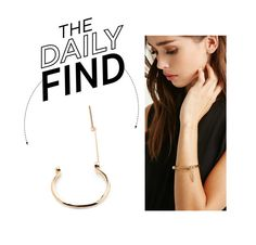 """Daily Find: Forever 21 Screw Bar Bracelet"" by polyvore-editorial ❤ liked on Polyvore featuring Forever 21 and DailyFind"