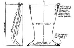 free moccasin pattern | Once you're satisfied with the adjusted pattern, use it to cut both ...