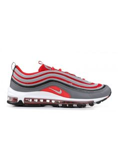 online store 157f4 747b3 Nike Air Max 97 Dark Grey Wolf Grey Gym Red Outlet Air Max 97, Nike