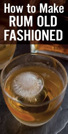 Learn How to Make Rum Old Fashioned Cocktail. Rum, sugar, bitters, orange zest and ice is all you need. Sweet but not too sweet, and incredibly easy. Whiskey Recipes, Rum Cocktail Recipes, Brewing Recipes, Rum Recipes, Alcohol Recipes, Cocktails, Punch Recipes, Canning Recipes, Rum Old Fashioned