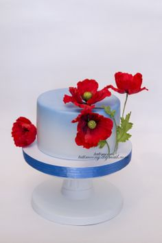 Cake with poppies