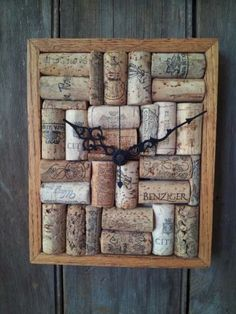 Wine Cork Art Clock