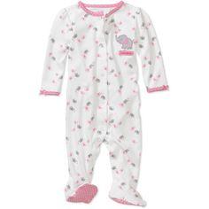 newborn baby clothes at walmart | Child of Mine by Carter's - Newborn Girls' Elephant Sleep n' Play ...