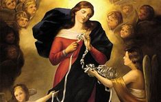 Mary Undoer of Knots Novena - Novenas and Prayers - Catholic Novena App Prayers To Mary, Novena Prayers, Novenas Catholic, Prayer List, Images Of Mary, Queen Of Heaven, Feeling Helpless, Family Problems, Blessed Mother Mary