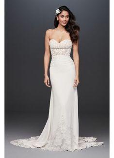 Sheer Beaded Bodice Lace Wedding Dress SV830