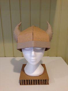 Kids Cardboard Viking Horned Helmet  small by ZygoteBrownDesigns