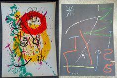 2 JOAN MIRO SIGNED in Plate Modern Art Original Lithograph Prints XXeme Siecle Paris Rare on Etsy, $1,750.00