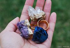 swellmayde: DIY GIFT IDEA   Gold Gilded Geode Ring