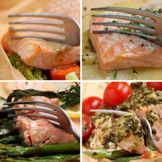Salmon recipes 410320216039277544 - Parchment Baked Salmon 4 Ways Source by kaywaterton Fish Recipes, Seafood Recipes, Dinner Recipes, Cooking Recipes, Healthy Recipes, Dinner Ideas, Indian Recipes, Recipes For Salmon, Seafood Meals