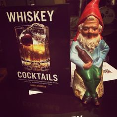 Look!!! It's Klaus the Soused Gnome and my second book -#whiskey #cocktails