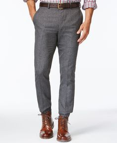 Tallia Big & Tall Charcoal Jogger Pants