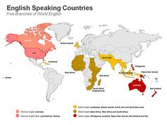 editable powerpoint map english speaking countries