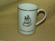 LINCOLN MUG MERRY MASTERPIECES FINE PORCELAIN CUP 1ST ED 1999 GOLD ABE NOT SANTA