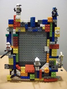 Lego frame for Father's Day.