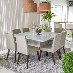 There are a lot of styles of dining room lighting, and installing a suitable lamp has a good effect on the beautification of the whole space and the warm atmosphere. Under normal circumstances, the di Dinning Room Tables, Square Dining Tables, Dining Room Lighting, Dining Rooms, Pooja Room Door Design, Dining Room Design, Home Decor Bedroom, Living Room Decor, Contemporary Bedroom Sets