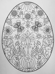 Easter Coloring Pages, Mandala Coloring Pages, Christmas Coloring Pages, Coloring Book Pages, Easter Art, Easter Crafts, Easter Colors, Egg Decorating, Art Club
