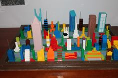 Earthquake science project using lego buildings. #homeshcool #science #lego