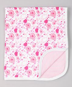 Look what I found on #zulily! 28'' x 32'' Pink Meadow Delight Stroller Blanket by Mooncakes #zulilyfinds