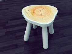 Simple Stool with Natural and Modern Combination by Vladislav Zhukovets - The Great Inspiration for Your Building Design - Home, Building, Furniture and Interior Design Ideas Bench Furniture, Design Furniture, Chair Design, Furniture Projects, Log Stools, Wooden Stools, Geometric Furniture, Cool Chairs, Dream Decor