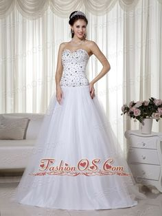 Awesome White Dresses For Plus Size White A-line Sweetheart Floor-length Taffeta and Tulle Beading Prom Dress-  www.... Check more at http://24store.tk/fashion/white-dresses-for-plus-size-white-a-line-sweetheart-floor-length-taffeta-and-tulle-beading-prom-dress-www/