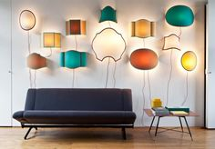 Servomuto makes these lovely sconces which look like magical balloons or kites to me, such whimsey!