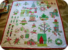 Christmas Quilt by Better Off Thread, via Flickr