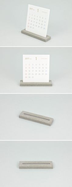 DIY Calendar and Stand cement concrete