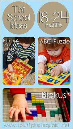 Tot School Ideas for Ages 18-24 Months #totschool from www.1plus1plus1equals1.net