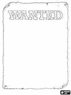 wanted poster template for kids cTZOBx5z (With images