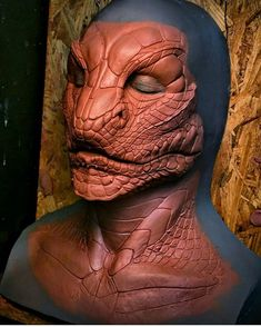 Male snake prosthetic sculpt from the phenomenal @wayneandersondesigns, created for the @rbfx prosthetic makeup collection. -- #wayneanderson #rbfx #fxmakeup #sfxmakeup #makeupfx #makeup #prostheticmakeup #specialeffects #practicaleffects #snakes #scales #clay #snake #lizard #reptile #clay #sculpt #sculpture #spfx #sfx