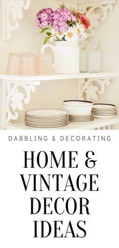 Antique Decor, Vintage Decor, Kitchen Ideas, Kitchen Decor, Flea Market Style, Farm Sink, Kitchen Shelves, Decorating Blogs, Cottage Style