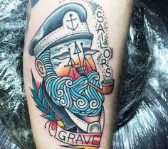 Sailors Grave tattoo by Sam Ricketts