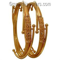 daily use gold bangles design - Google Search