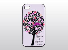 Pink and Purple Wedding iPhone Case  Wedding by GoldenDaysDesigns, $15.00