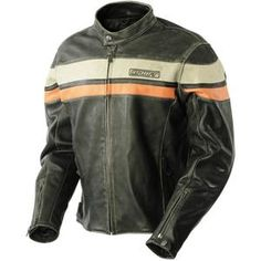 Details about Richa Retro Racing Leather Motorcycle Jacket Brown ...