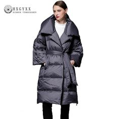 96957ebe432 2018 Winter Fashion Clothing Long Down Jacket Female European Plus Size  Parka Feminino Loose Lapel Thicker