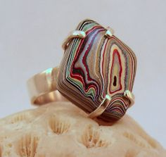 Multicoloured Fordite and Sterling Silver by ALittleTrinket, £45.00