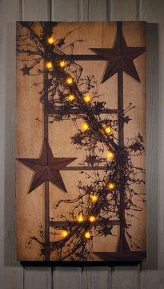 Timeless by Design Pip Berry Garland Lighted Wrapped Canvas Berry Garland, Light Garland, Light Up Pictures, Primitive Painting, Christmas Canvas, Lighted Canvas, Canvas Crafts, Canvas Art, Canvas Ideas
