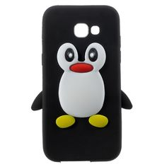 Case Cover for Galaxy A5 (2017) Shell Fundas 3D Penguin Soft Silicone Phone Cases for Samsung Galaxy A5 (2017) Cell Phone Bag