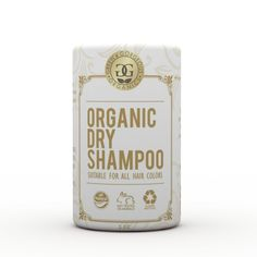 Organic Natural Dry Shampoo Powder for All and Oily Hair Types Lavender and Bergamot - Travel Size