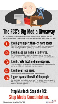 New FCC rules will let a single company own a town's ISP, newspapers, 2 TV stations and 8 radio stations - Boing Boing