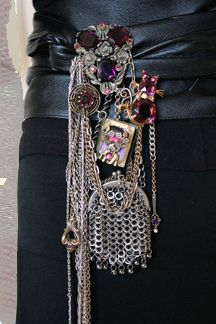 fabulous one-of-a-kind chatelaines - don't know if I would actually wear this but I love the look!