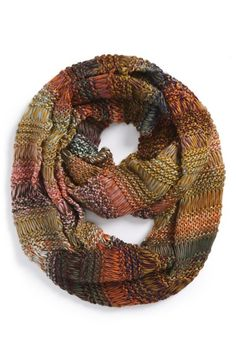 Love this cozy fall scarf with beautifully muted fall colors!
