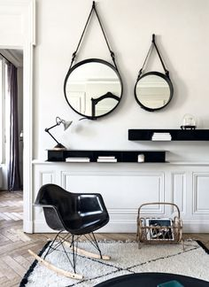 Total coup de coeur for this apartment located in Lyon, France, its mix of design pieces and...